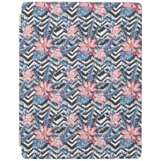Tropical Lotus Flower Pattern iPad Cover