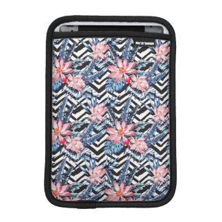Tropical Lotus Flower Pattern iPad Mini Sleeve