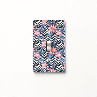 Tropical Lotus Flower Pattern Light Switch Cover