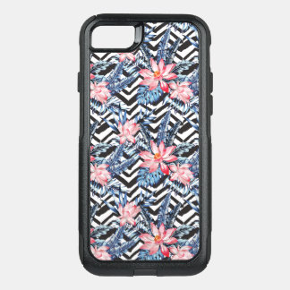 Tropical Lotus Flower Pattern OtterBox Commuter iPhone 8/7 Case