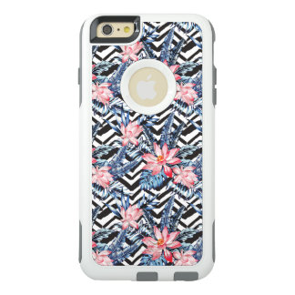 Tropical Lotus Flower Pattern OtterBox iPhone 6/6s Plus Case