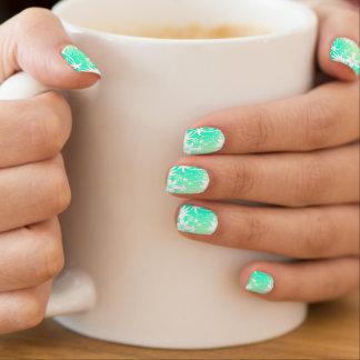 Tropical love minx nail art