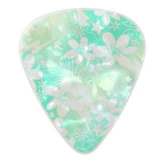 Tropical love pearl celluloid guitar pick