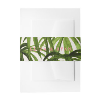 Tropical Love / Wrap Invitation Belly Band
