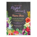 Tropical Luau Aloha Chalk Bridal Shower Invite