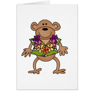 Tropical Luau Monkey Card