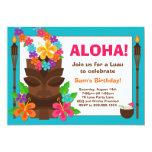 "Tropical Luau Party Invitation 5"" X 7"" Invitation Card"