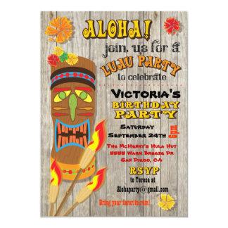 Tropical Luau Tiki Party Invitations