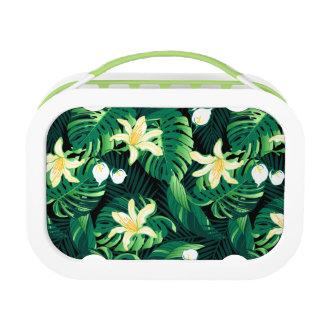 Tropical lush floral lunch box