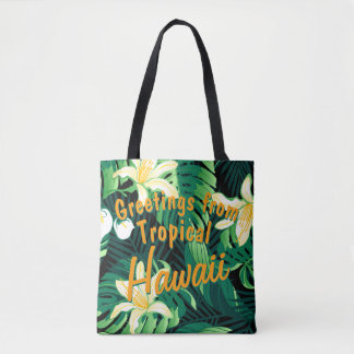 Tropical lush floral tote bag