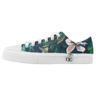 Tropical Magnolia floral sneakers