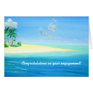 Tropical Maldives Beach Engagement Card