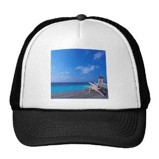 Tropical Maldives Ocean Decks Mesh Hat