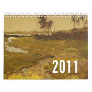 Tropical Melody, Darrell Hill Painting Calendar... Calendar