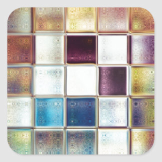 Tropical Memories Mosaic Tile Art Square Sticker