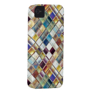Tropical Memories Turquoise and Wine Mosaic Art Case-Mate iPhone 4 Cases