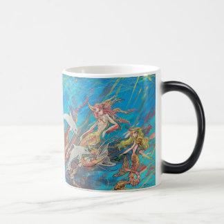 Tropical Mermaids and Dolphins Magic Mug