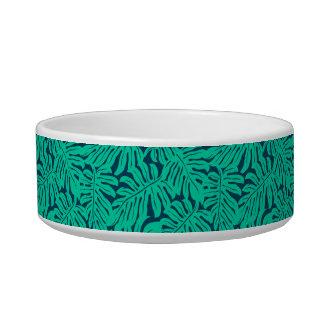 Tropical monstera leaf bowl