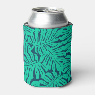 Tropical monstera leaf can cooler