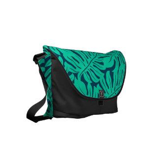 Tropical monstera leaf commuter bag