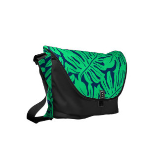 Tropical monstera leaf commuter bag