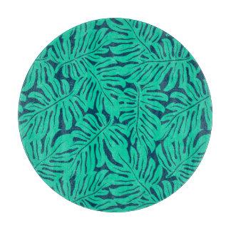 Tropical monstera leaf cutting board