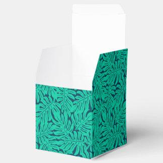 Tropical monstera leaf favor box