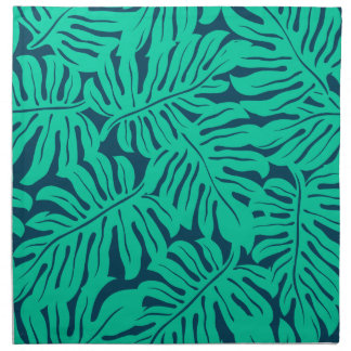 Tropical monstera leaf napkin
