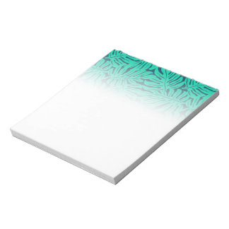Tropical monstera leaf notepad