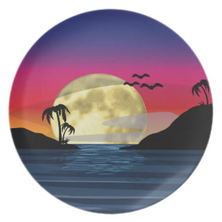 Tropical Moon Party Plate