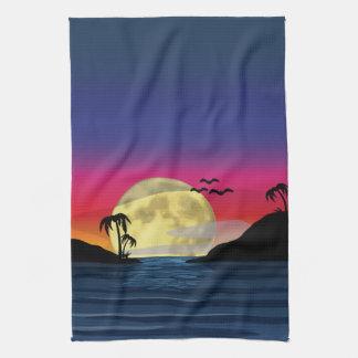 Tropical Moon Towels