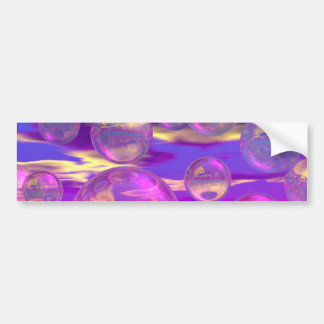 Tropical Morning – Magenta and Turquoise Paradise Bumper Sticker