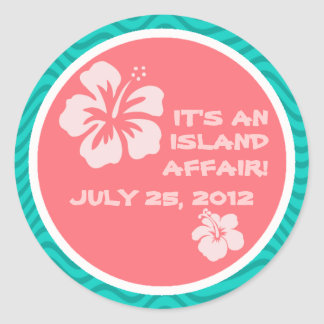 Tropical Motif with Hibiscus Stickers