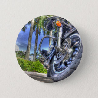Tropical Motorcycle 2 Inch Round Button