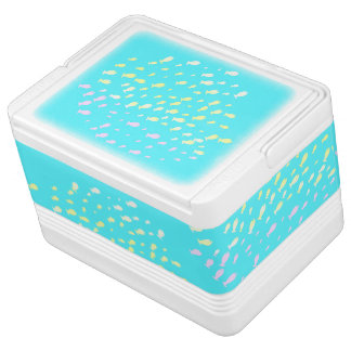 Tropical multicolor fish Igloo 12 Can Cooler