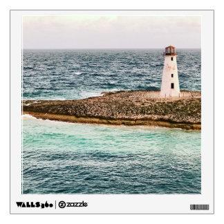Tropical Nassau, Bahamas Lighthouse Wall Decal