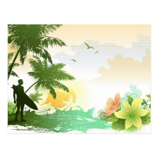 Tropical Nature Art Postcard