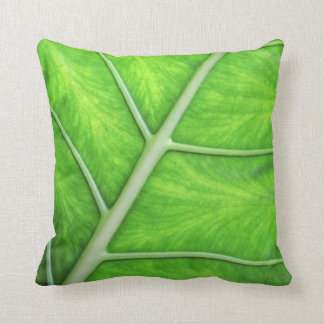 Tropical Nature Green Leaf Photography Cushion Throw Pillow