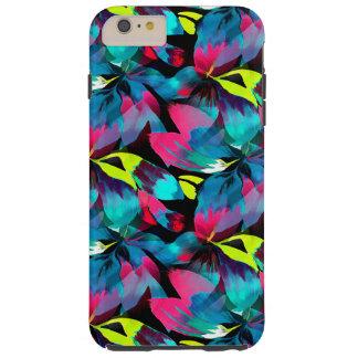 Tropical Neon Splash in Paradise Tough iPhone 6 Plus Case