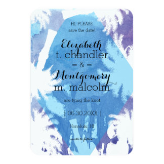 """Tropical Night Save the Dates 3.5"""" X 5"""" Invitation Card"""