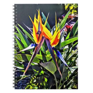 Tropical Notebook Bird of Paradise