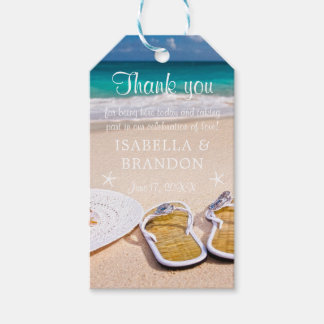 Tropical Ocean Beach Wedding Thank You Pack Of Gift Tags