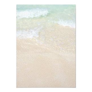 """Tropical Ocean Beaches Blank Printable Paper 5"""" X 7"""" Invitation Card"""