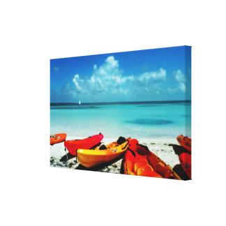 Tropical Ocean Kayak Canvas