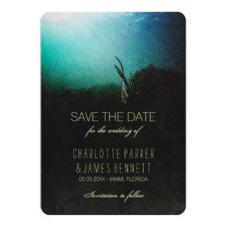 "Tropical Ocean Save the Date 5"" X 7"" Invitation Card"