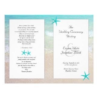 Tropical Ocean Starfish Christian Ceremony Program Flyer