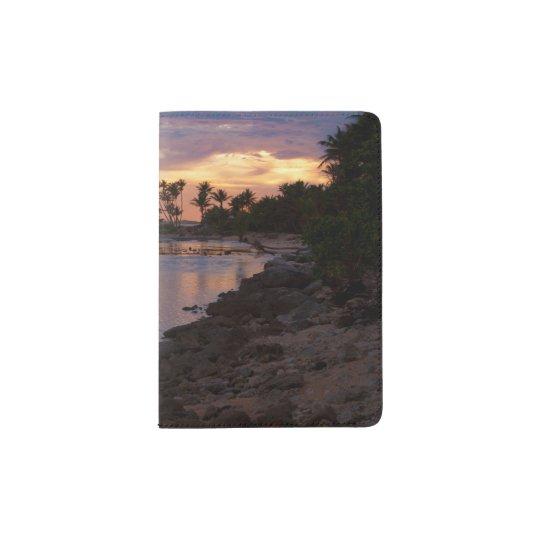 Tropical Ocean Sunset Passport Holder