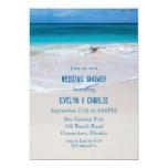 "Tropical Ocean Water Beach Wedding Shower Invite 5"" X 7"" Invitation Card"