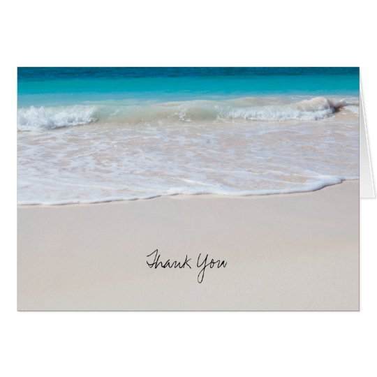Tropical Ocean Water, Wedding Thank You Note Cards