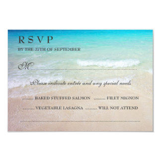 Tropical Ocean Wedding RSVP With Entrées Card